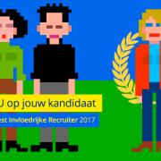 """Stem NU op jouw kandidaat voor de """"Meest Invloedrijke Recruiter"""" van 2017"""