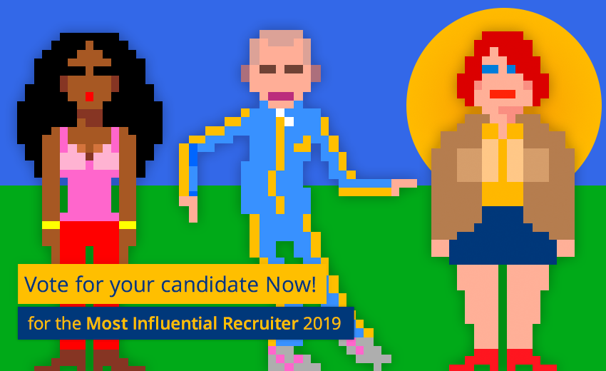 Vote for your candidate for the Most Influential Recruiter 2019 now!